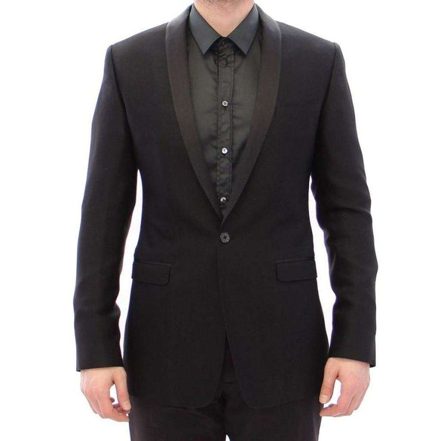 Dolce & Gabbana Black Gold Slim Smoking Blazer