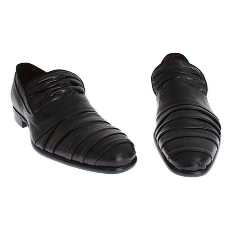 Dolce & Gabbana Black Kangaroo Leather Dress Formal Shoes - Men - Shoes - Oxfords - Dolce & Gabbana | Gethuda Fashion