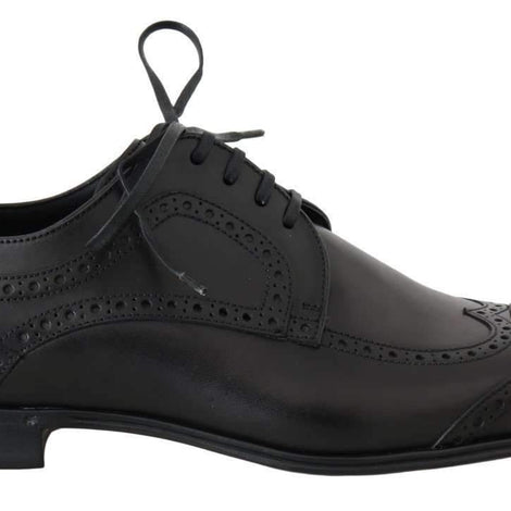 Black Leather Dress Oxford Wingtip Shoes
