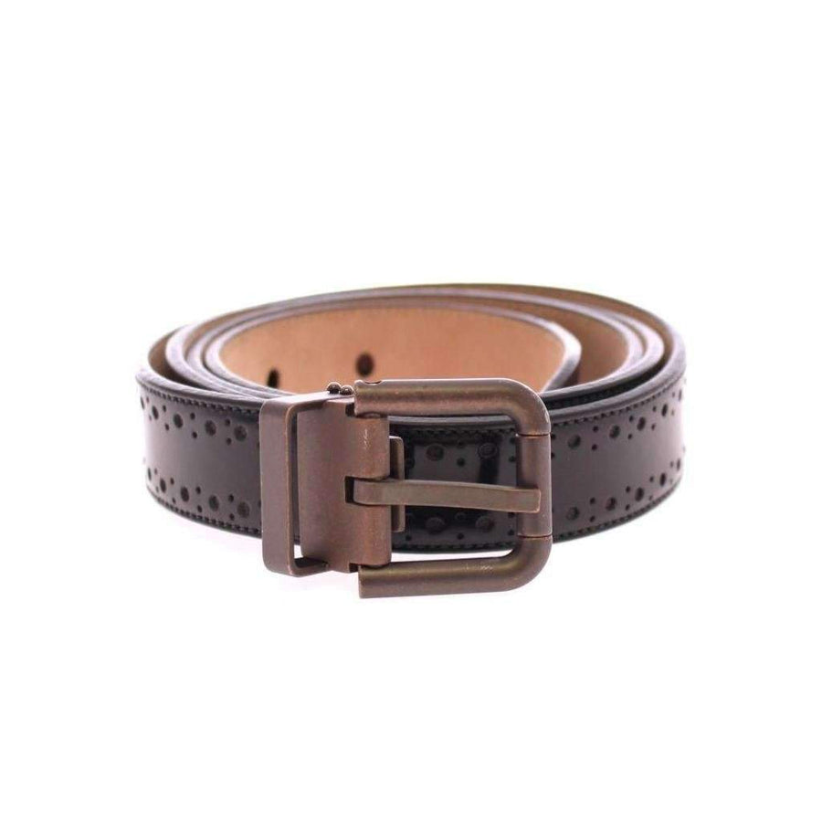 Dolce & Gabbana Black Leather Logo Belt - Men - Accessories - Belts - Dolce & Gabbana | Gethuda Fashion