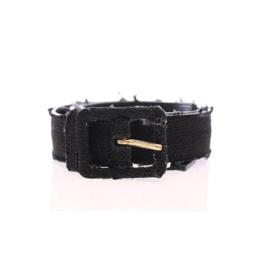 Dolce & Gabbana Black Leather Logo Belt - Women - Accessories - Belts - Dolce & Gabbana | Gethuda Fashion