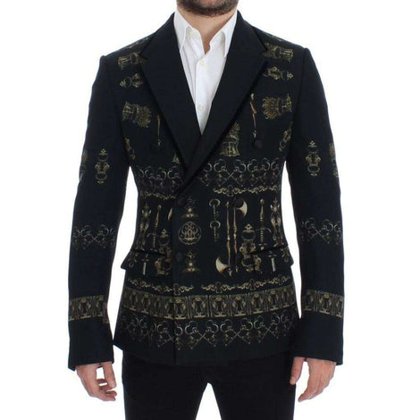 Dolce & Gabbana Black silk knight slim fit blazer - Men - Apparel - Outerwear - Blazers - Dolce & Gabbana | Gethuda Fashion