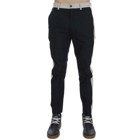 Dolce & Gabbana Black Slim Fit Casual Chinos Pants - Men - Apparel - Trousers - Dolce & Gabbana | Gethuda Fashion