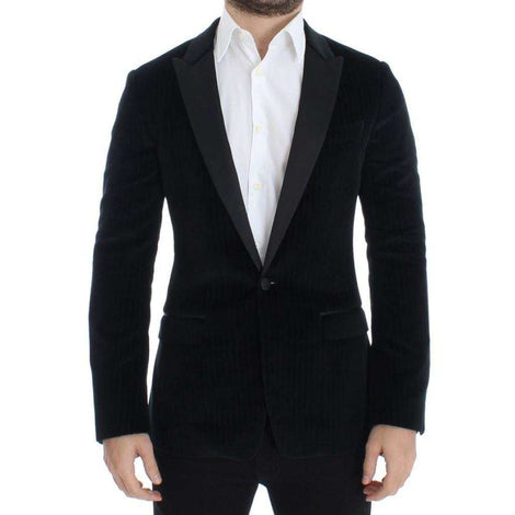 Dolce & Gabbana Black striped slim MARTINI blazer - Men - Apparel - Outerwear - Blazers - Dolce & Gabbana | Gethuda Fashion