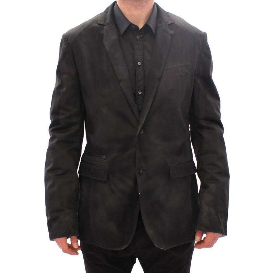 Dolce & Gabbana Black wash two button blazer - Men - Apparel - Outerwear - Blazers - Dolce & Gabbana | Gethuda Fashion