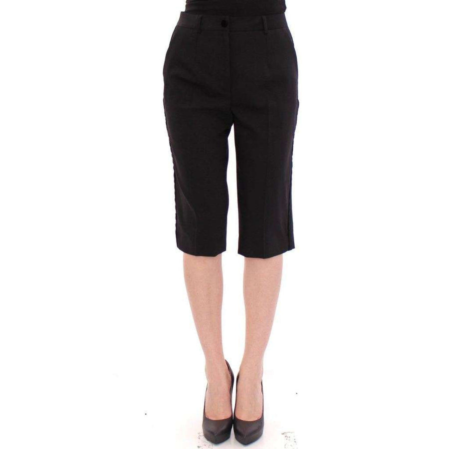 Dolce & Gabbana Black wool shorts pants - Women - Apparel - Shorts - Casual - Dolce & Gabbana | Gethuda Fashion