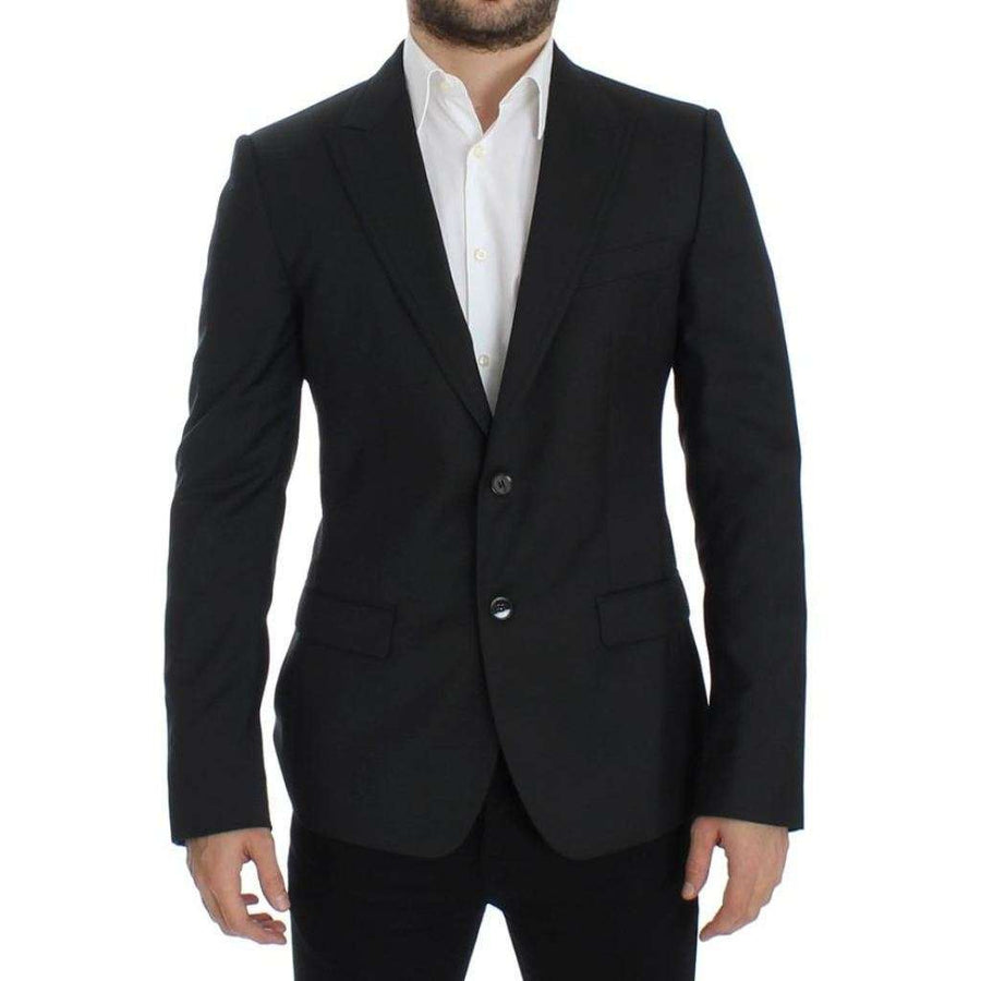 Dolce & Gabbana Black Wool Slim Fit Blazer