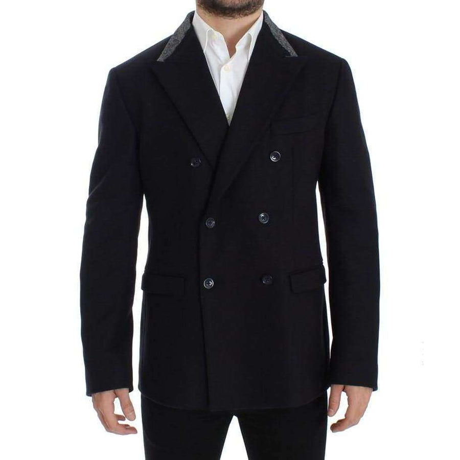 Dolce & Gabbana Black wool stretch double blazer - Men - Apparel - Outerwear - Blazers - Dolce & Gabbana | Gethuda Fashion