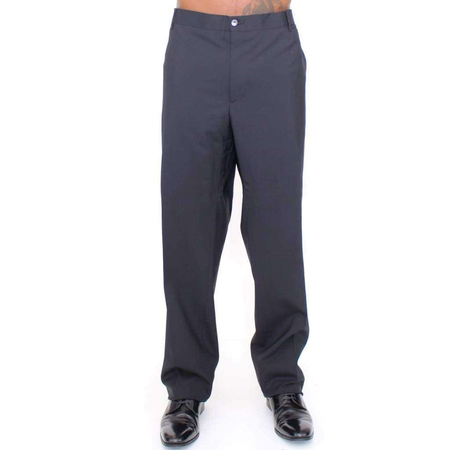 Dolce & Gabbana Black Wool Stretch Pleated Pants - Men - Apparel - Trousers - Dolce & Gabbana | Gethuda Fashion