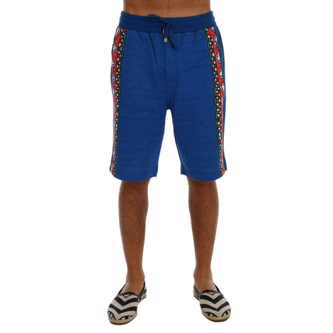 Dolce & Gabbana Blue Cotton Above Knees Casual Shorts - Men - Apparel - Shorts - Casual - Dolce & Gabbana | Gethuda Fashion