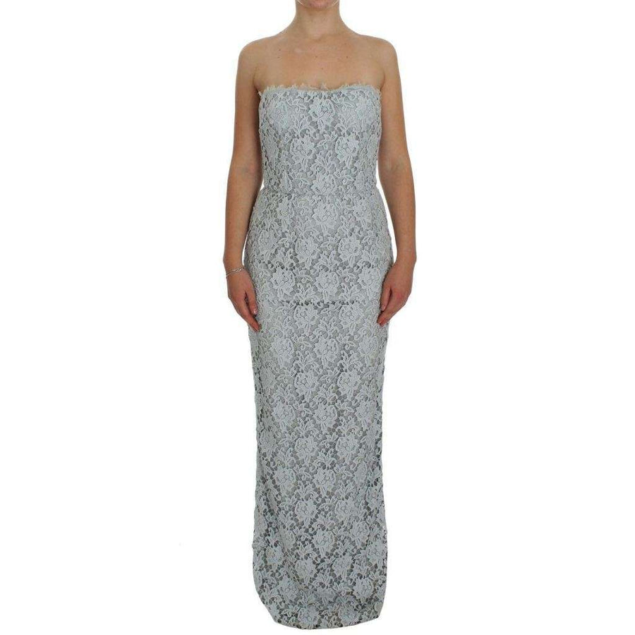 Dolce & Gabbana Blue Floral Lace Sheath Maxi Dress - Women - Apparel - Dresses - Casual - Dolce & Gabbana | Gethuda Fashion