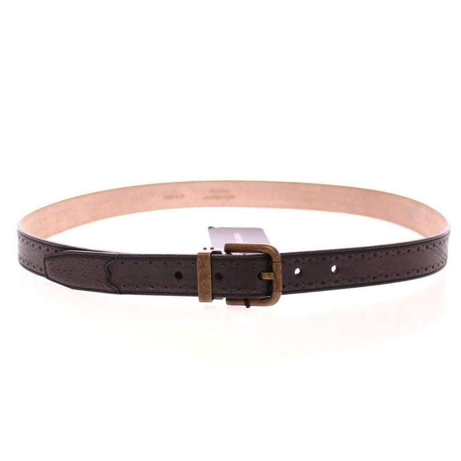 Dolce & Gabbana Blue Leather Logo Belt - Men - Accessories - Belts - Dolce & Gabbana | Gethuda Fashion
