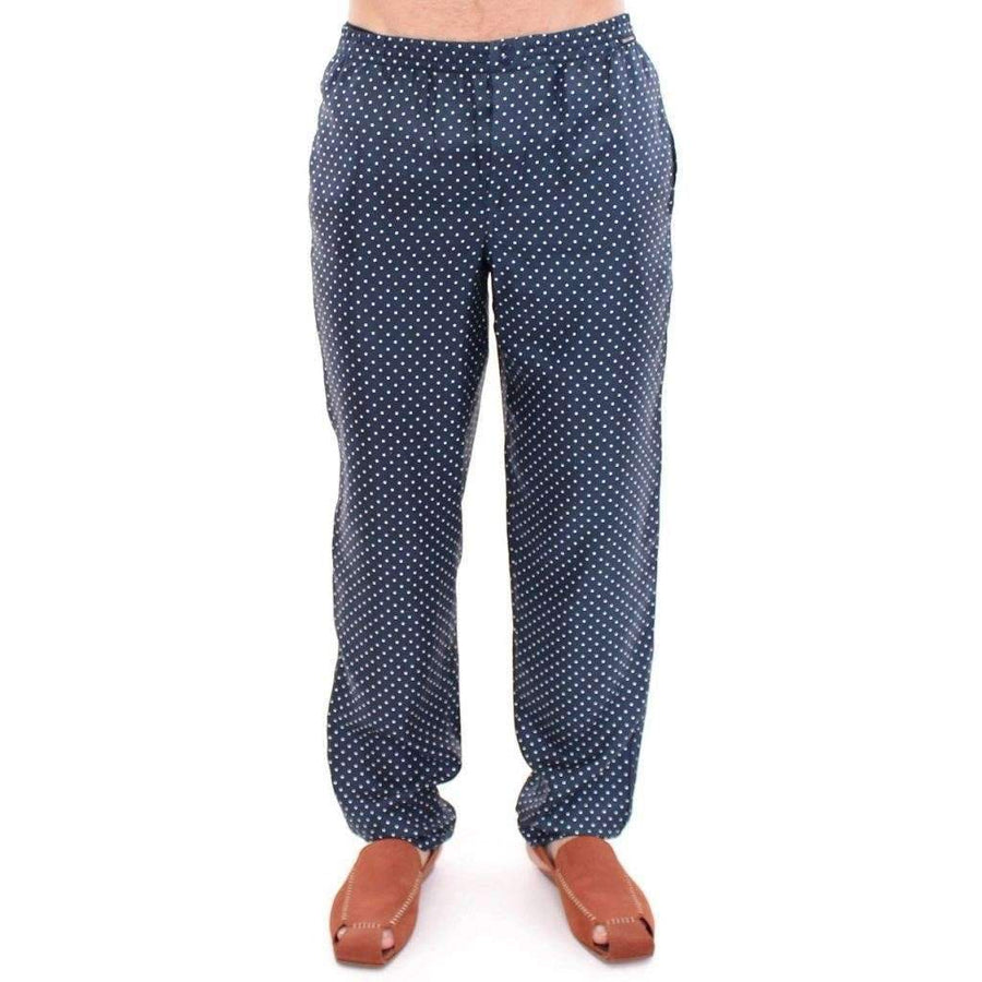 Blue Polka Dot SILK Pajama Pants Sleepwear - Men - Apparel - Lingerie And Sleepwear - Pajama Sets - Dolce & Gabbana | Gethuda Fashion