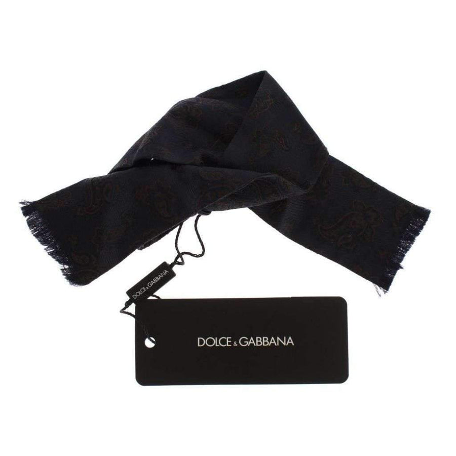 Dolce & Gabbana Blue Silk Baroque Paisley Untied Bow Tie - Men - Accessories - Ties - Dolce & Gabbana | Gethuda Fashion