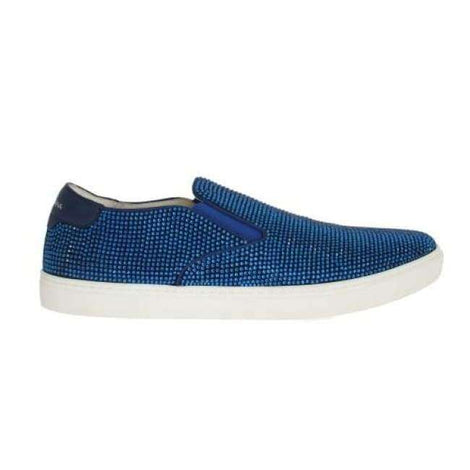 Dolce & Gabbana Blue Strass Canvas Logo Sneakers - Men - Shoes - Sneakers - Dolce & Gabbana | Gethuda Fashion