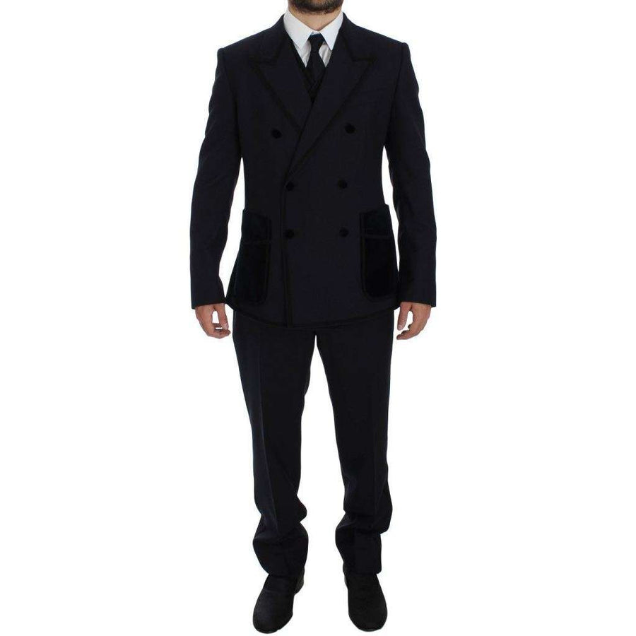 Dolce & Gabbana Blue Wool Torero Slim 3 Piece Suit Tuxedo - Men - Apparel - Suits - Classic - Dolce & Gabbana | Gethuda Fashion