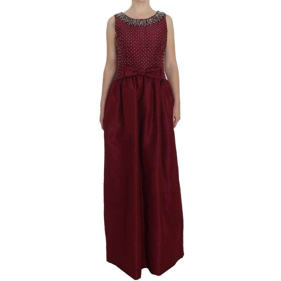 Dolce & Gabbana Bordeaux Crystal Ball Gown Full Dress - Women - Apparel - Dresses - Casual - Dolce & Gabbana | Gethuda Fashion