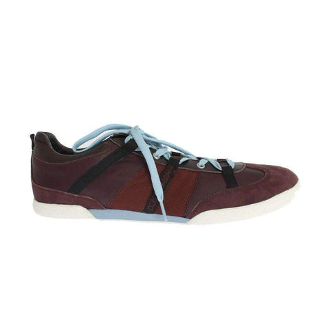 Dolce & Gabbana Bordeaux Leather Casual Sneakers - Men - Shoes - Sneakers - Dolce & Gabbana | Gethuda Fashion