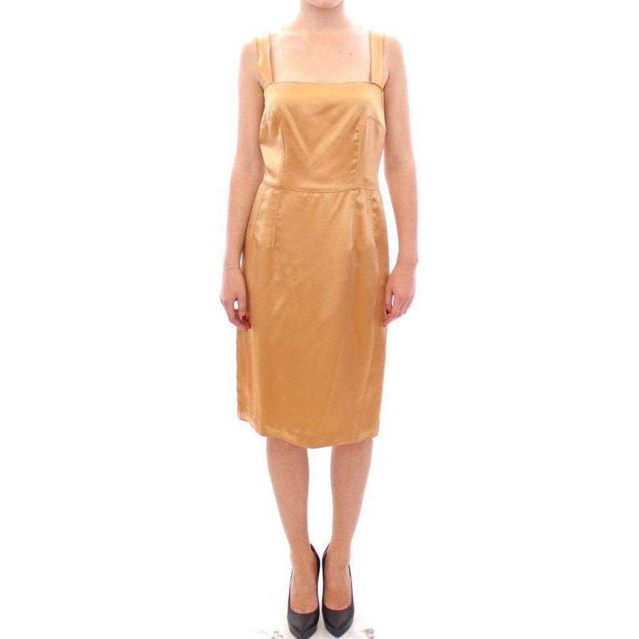 Dolce & Gabbana Bronze silk sheath dress - Women - Apparel - Dresses - Casual - Dolce & Gabbana | Gethuda Fashion