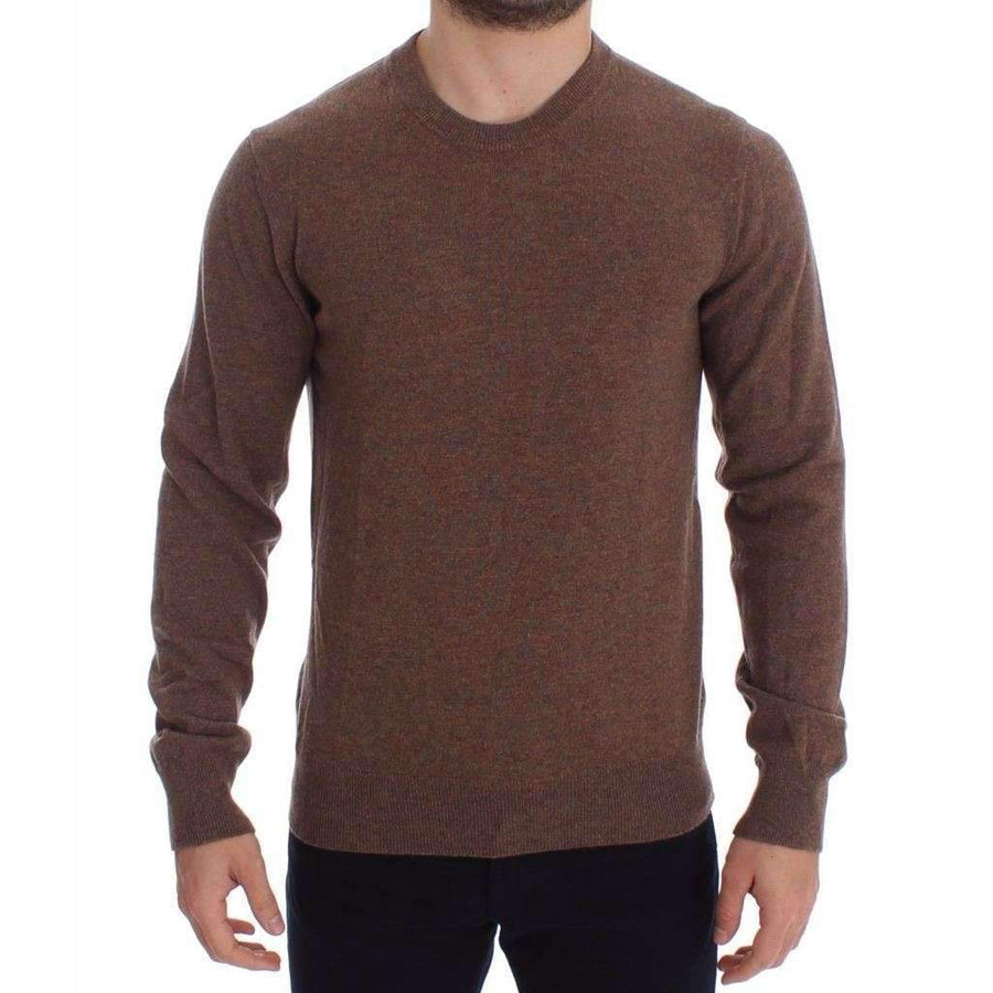 Dolce & Gabbana Brown Cashmere Crew-neck Sweater Pullover Top - Men - Apparel - Sweaters - Pull Over - Dolce & Gabbana | Gethuda Fashion