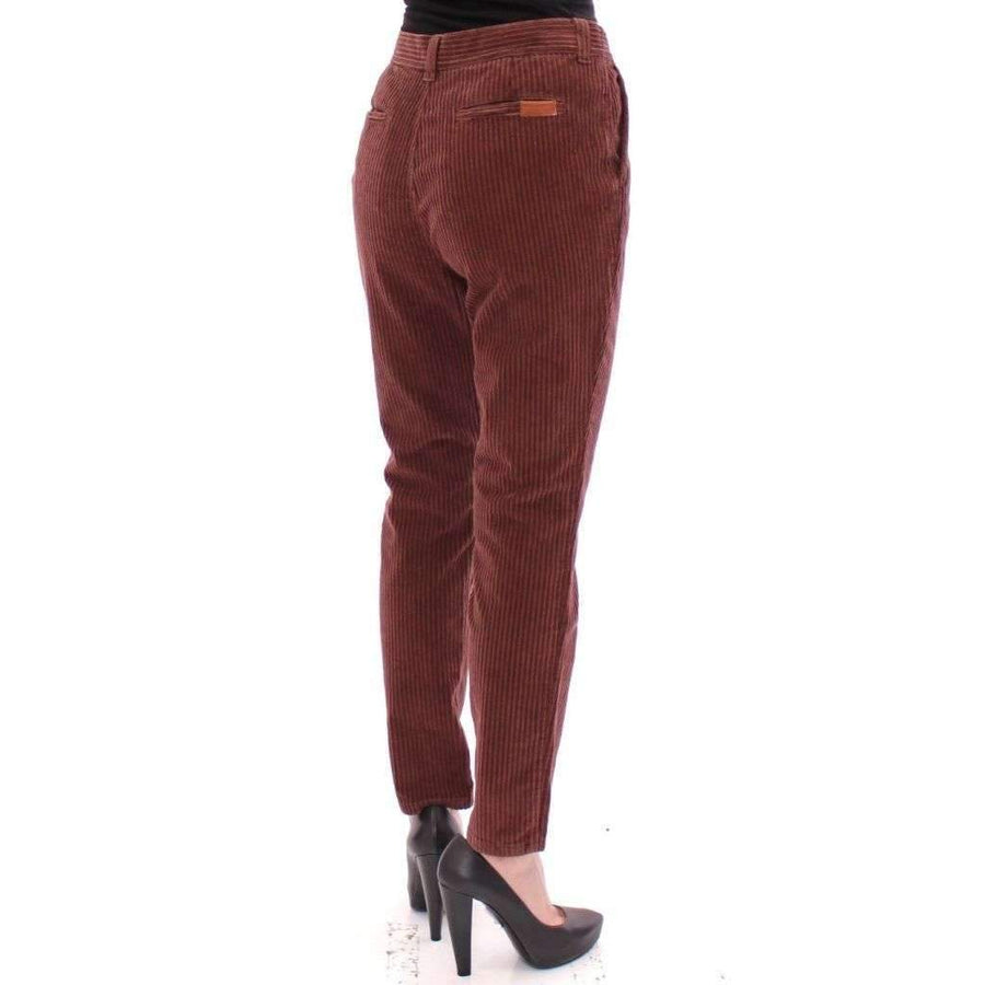 Dolce & Gabbana Brown CATHERINE Cotton Corduroys Jeans - Women - Apparel - Denim - Jeans - Dolce & Gabbana | Gethuda Fashion
