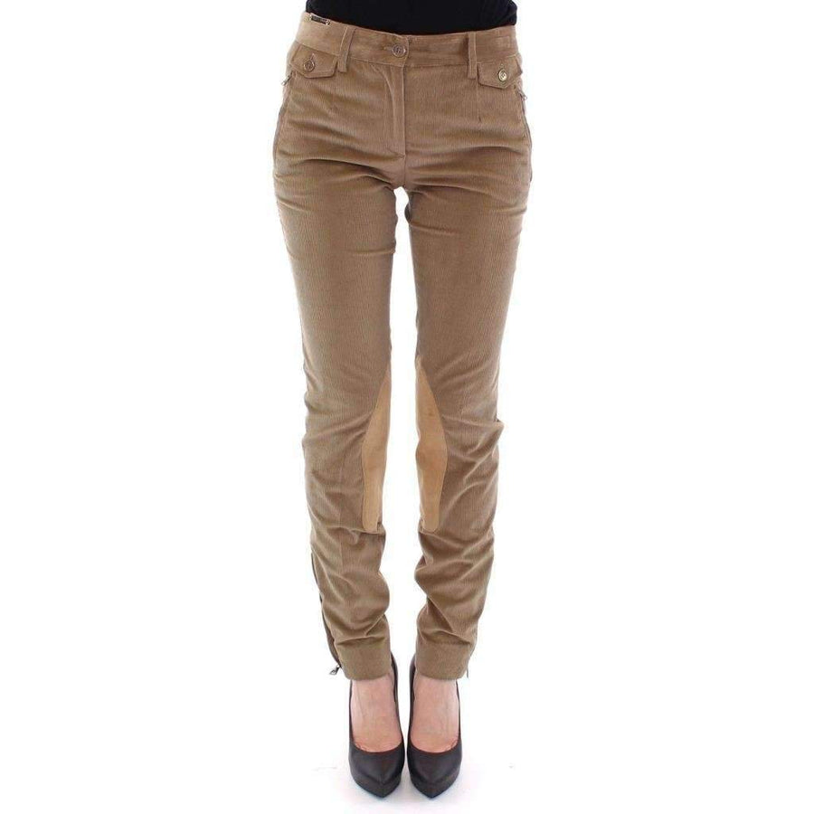 Dolce & Gabbana Brown Cotton Corduroys Jeans Pants - Women - Apparel - Denim - Jeans - Dolce & Gabbana | Gethuda Fashion