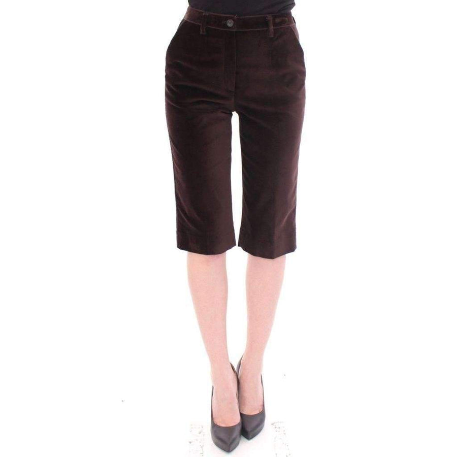 Dolce & Gabbana Brown Cotton Solid Pattern Shorts Pants - Women - Apparel - Shorts - Casual - Dolce & Gabbana | Gethuda Fashion