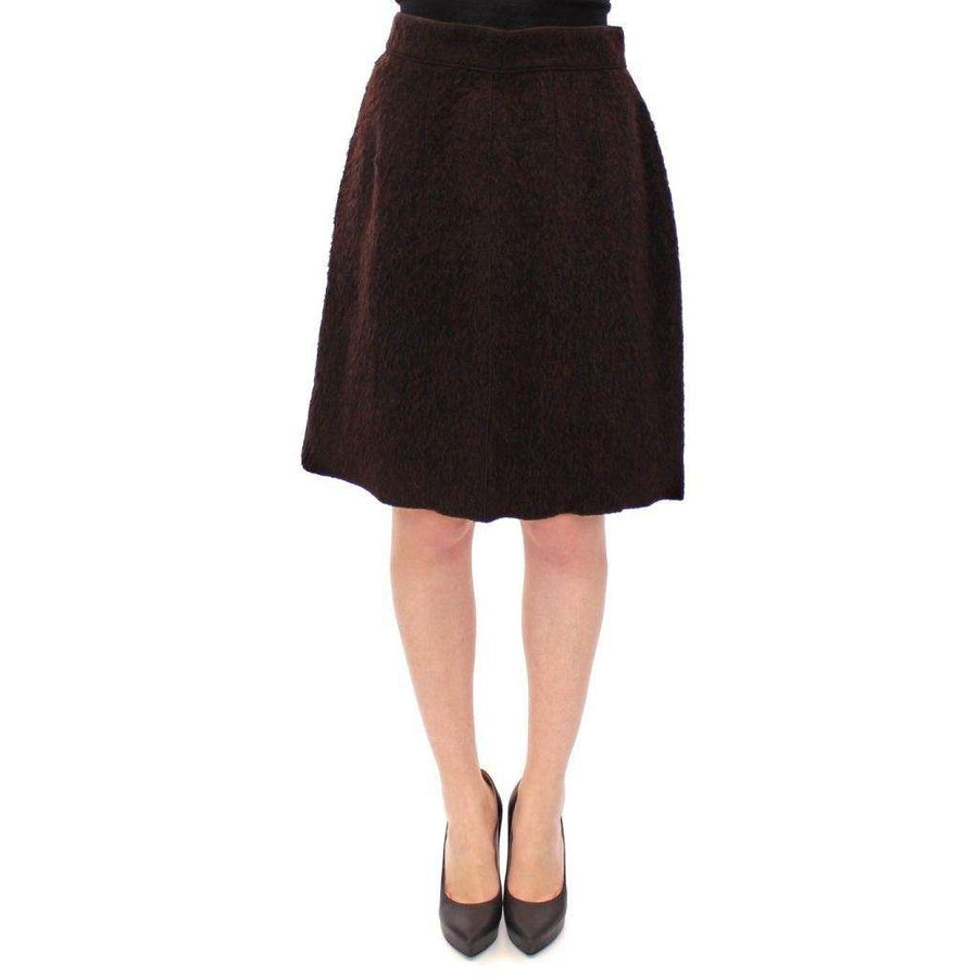 Dolce & Gabbana Brown Fur Above Knee Zipper Skirt - Women - Apparel - Skirts - Knee Length - Dolce & Gabbana | Gethuda Fashion