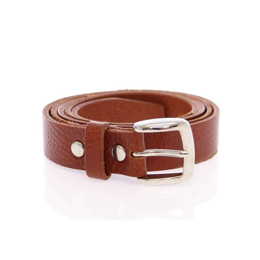 Dolce & Gabbana Brown Leather Logo Belt - Men - Accessories - Belts - Dolce & Gabbana | Gethuda Fashion
