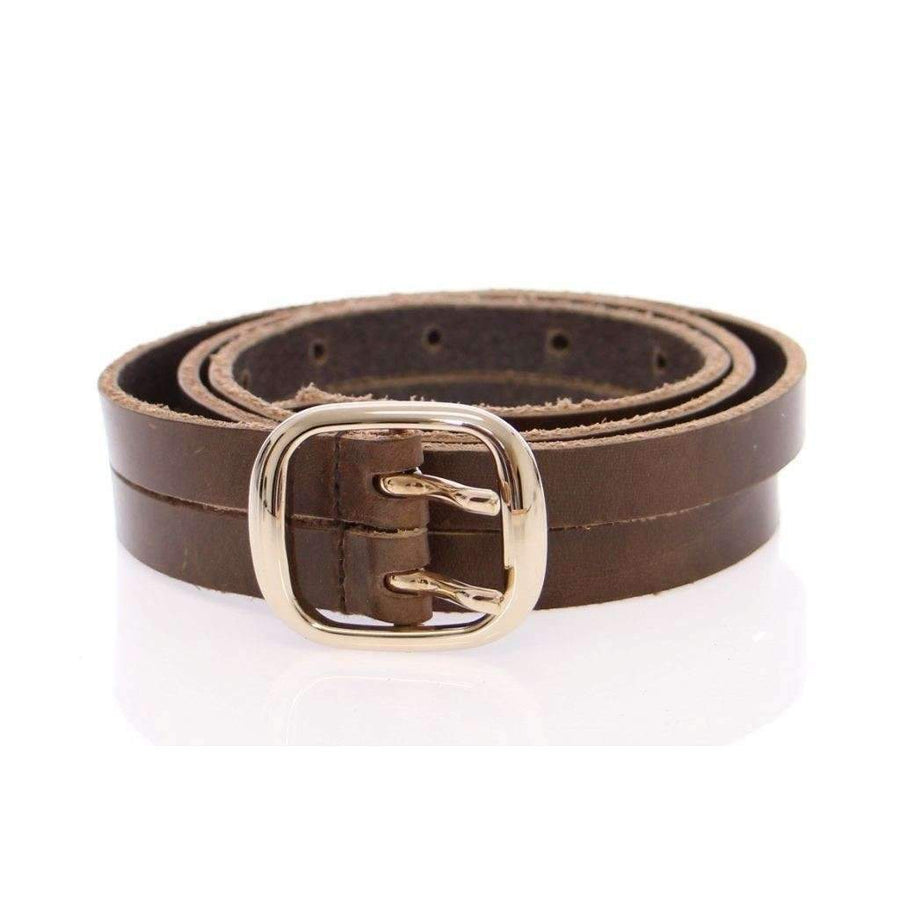 Dolce & Gabbana Brown Leather Logo Belt - Women - Accessories - Belts - Dolce & Gabbana | Gethuda Fashion