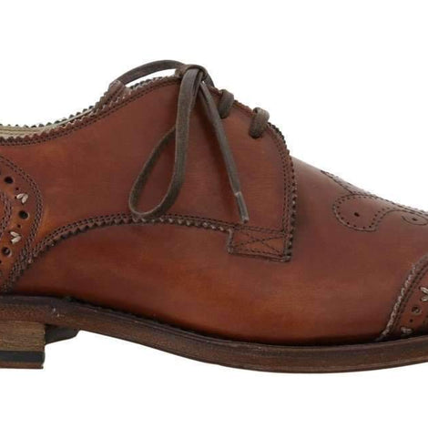 Dolce & Gabbana Brown Leather Wingtip Oxford Goodyear Shoes