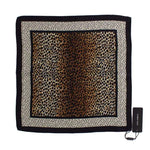 Dolce & Gabbana Brown Leopard Polka Dotted Silk Scarf - Women - Accessories - Scarves - Dolce & Gabbana | Gethuda Fashion