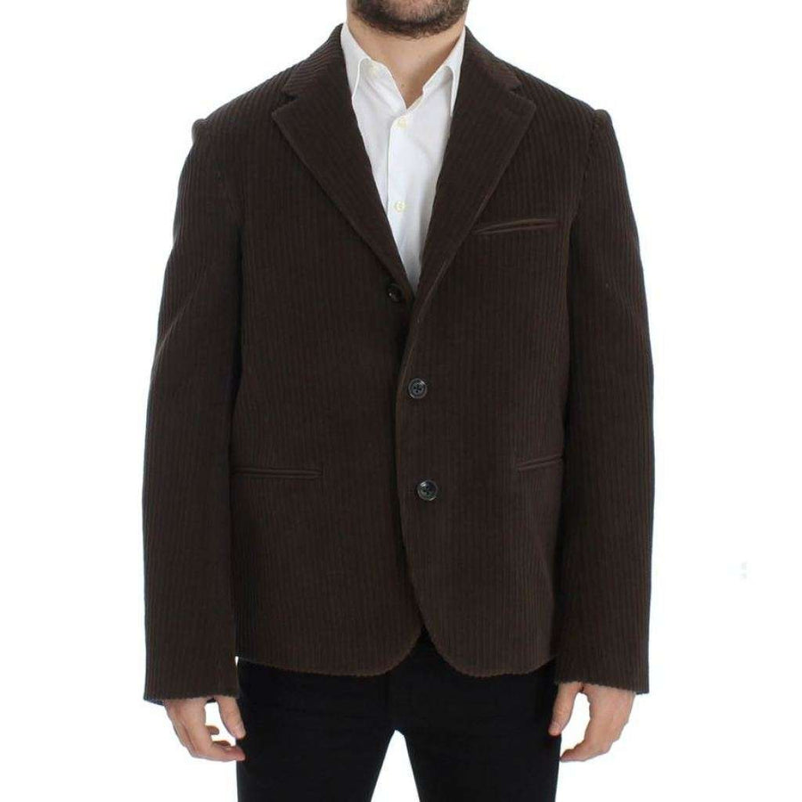 Dolce & Gabbana Brown manchester stretch blazer - Men - Apparel - Outerwear - Blazers - Dolce & Gabbana | Gethuda Fashion