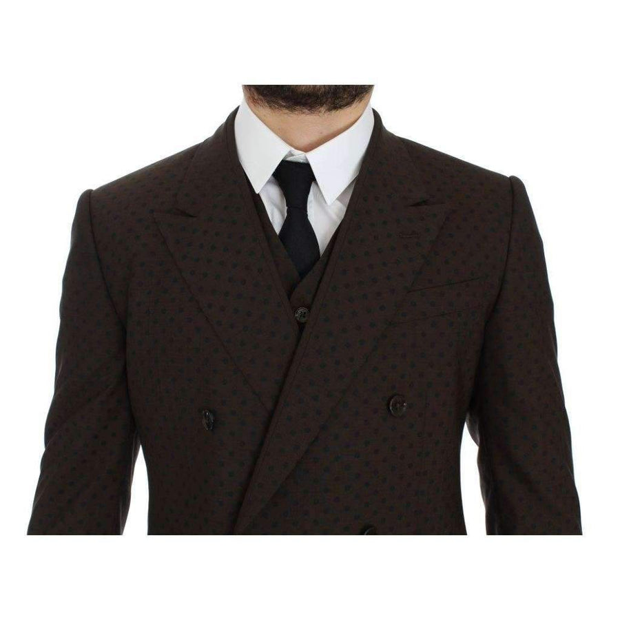 Dolce & Gabbana Brown Slim Fit Wool Stretch Blazer