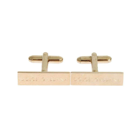 Dolce & Gabbana Gold Brass Cufflinks - Men - Accessories - Cufflinks - Dolce & Gabbana | Gethuda Fashion