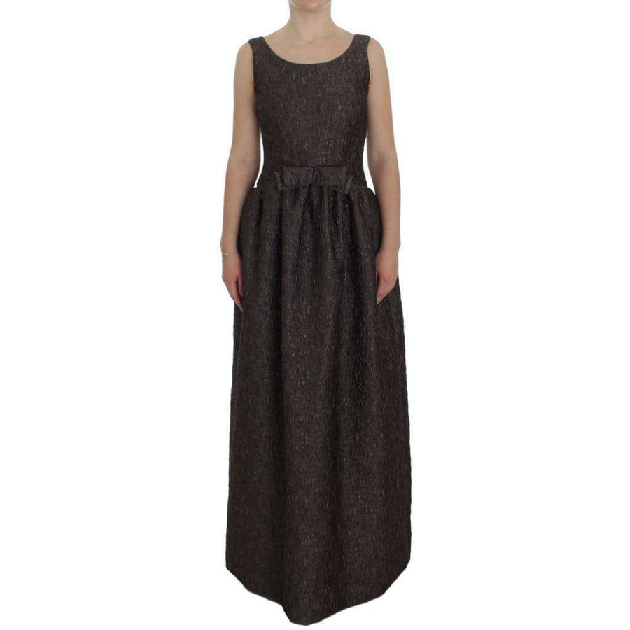 Dolce & Gabbana Gray Brocade Sheath Full Length Gown Dress - Women - Apparel - Dresses - Casual - Dolce & Gabbana | Gethuda Fashion