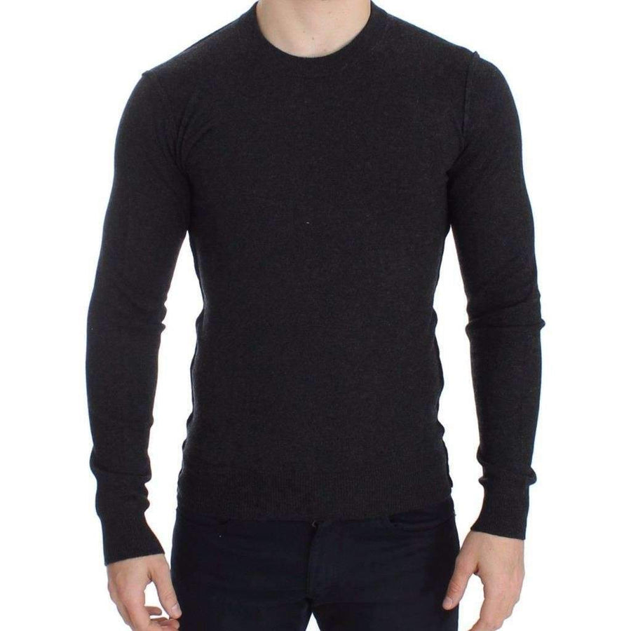 Dolce & Gabbana Gray Cashmere Crew-neck Sweater Pullover Top - Men - Apparel - Sweaters - Pull Over - Dolce & Gabbana | Gethuda Fashion