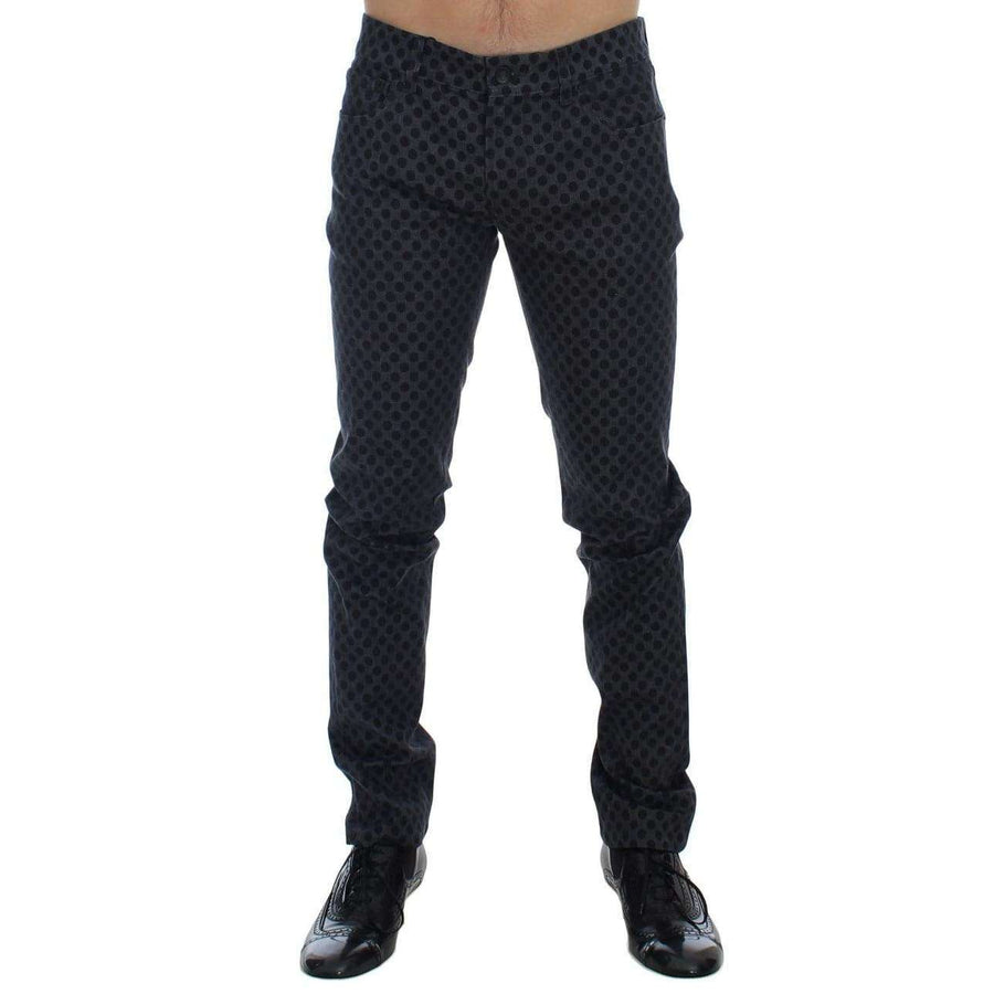 Dolce & Gabbana Gray Cotton Stretch 14 Slim Fit Pants Jeans - Men - Apparel - Trousers - Dolce & Gabbana | Gethuda Fashion
