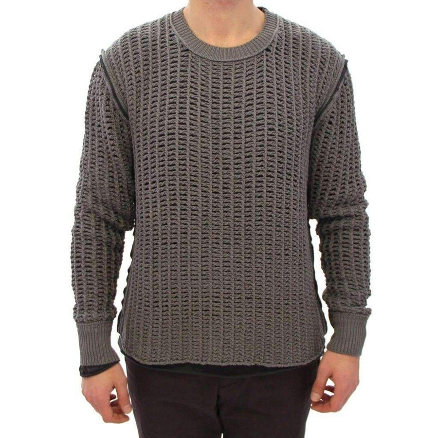 Dolce & Gabbana Gray Runway Netz Pullover Netted Sweater - Men - Apparel - Sweaters - Pull Over - Dolce & Gabbana | Gethuda Fashion