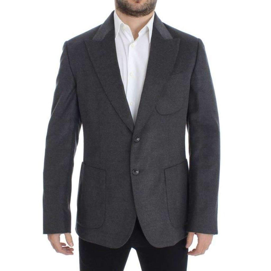 Dolce & Gabbana Gray silk two button blazer