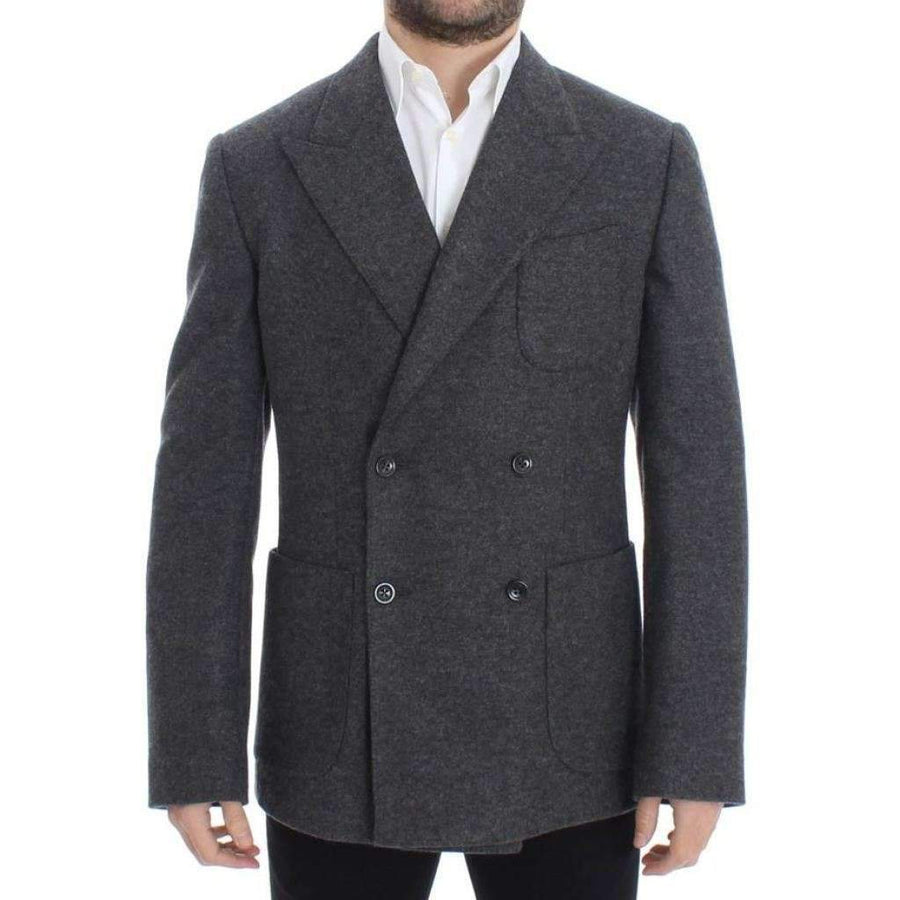 Dolce & Gabbana Gray wool double breasted blazer - Men - Apparel - Outerwear - Blazers - Dolce & Gabbana | Gethuda Fashion