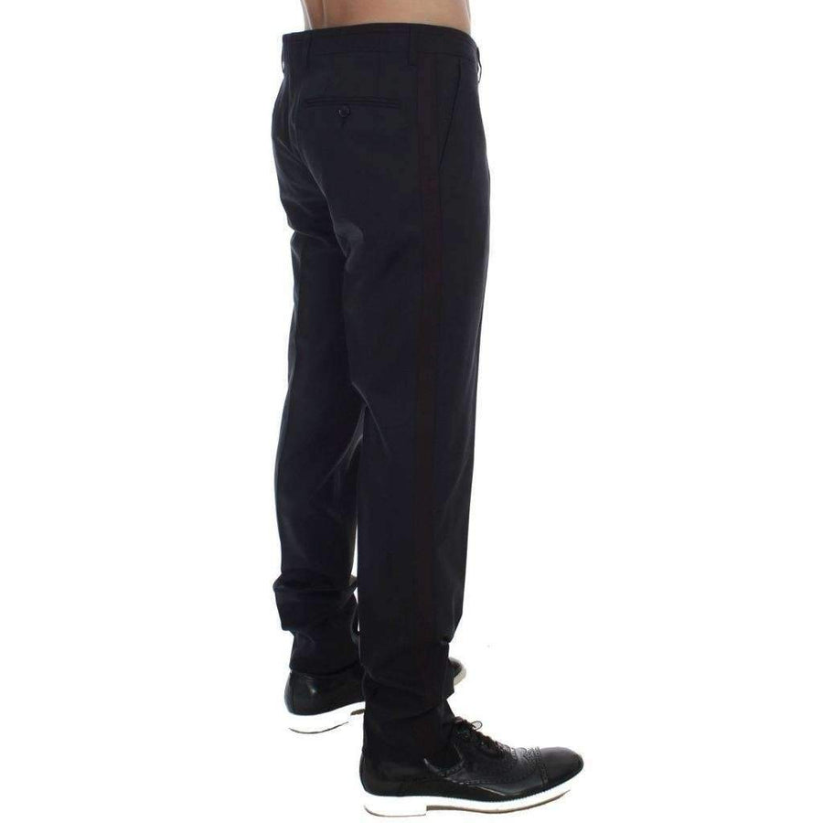 Dolce & Gabbana Gray Wool Stretch Slim Fit Dress Pants - Men - Apparel - Trousers - Dolce & Gabbana | Gethuda Fashion