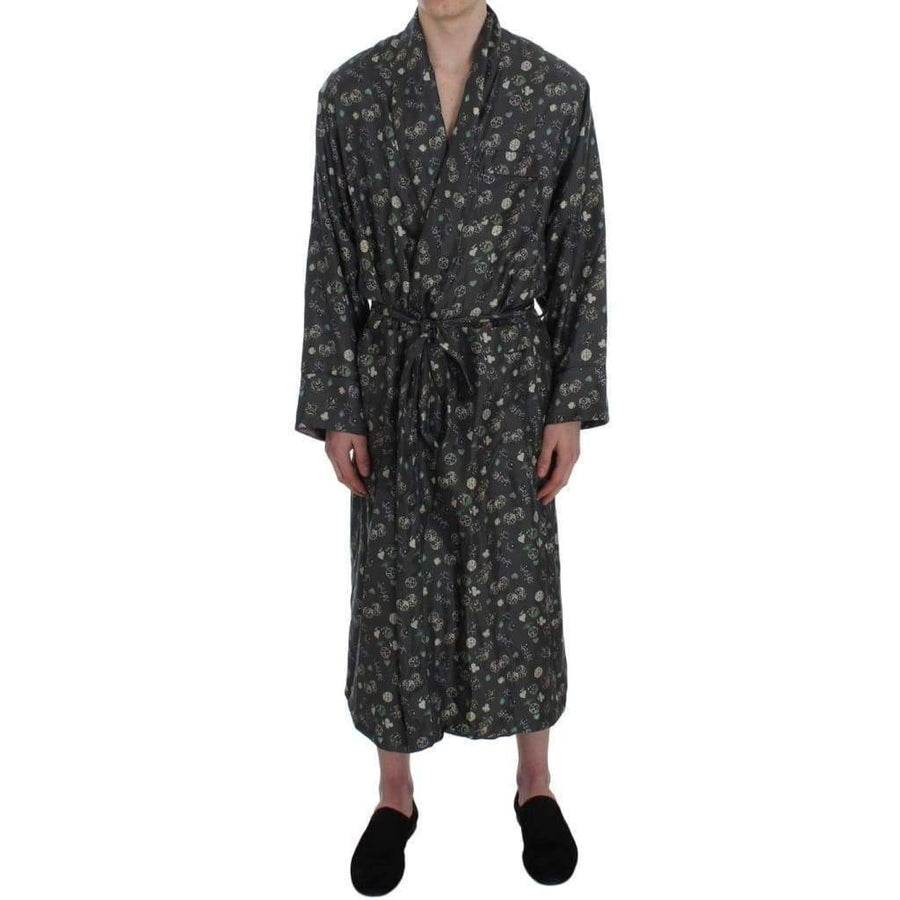 Dolce & Gabbana Green Dice Card Print Silk Nightgown - Men - Apparel - Lingerie And Sleepwear - Pajama Sets - Dolce & Gabbana | Gethuda Fashion
