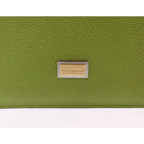Dolce & Gabbana Green Leather iPAD Tablet eBook Cover - Tech Accessories - Tablet Covers - Dolce & Gabbana | Gethuda Fashion