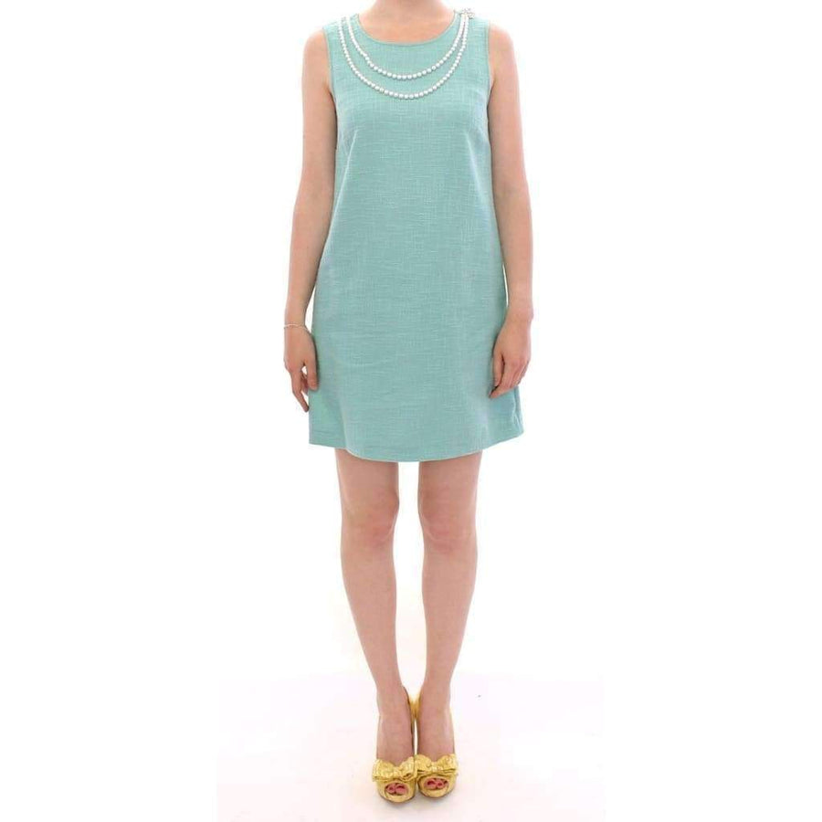 Dolce & Gabbana Green Shift Above Knee Dress - Women - Apparel - Dresses - Casual - Dolce & Gabbana | Gethuda Fashion