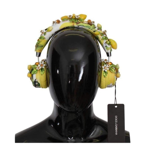 Dolce & Gabbana Lemon Crystal Wireless Leather Headphones