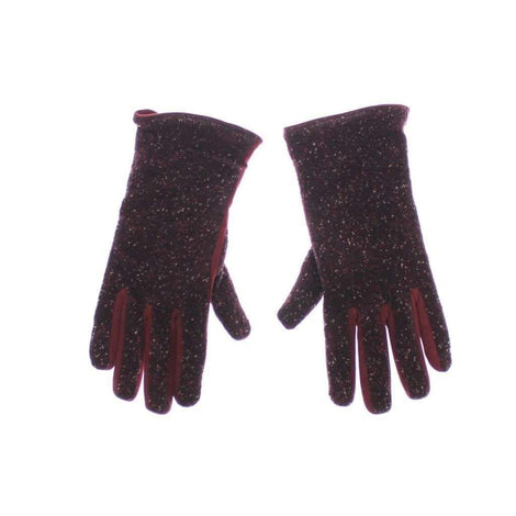 Dolce & Gabbana Mens Red Fabric Leather Wrist Gloves Hand - Men - Accessories - Gloves - Dolce & Gabbana | Gethuda Fashion