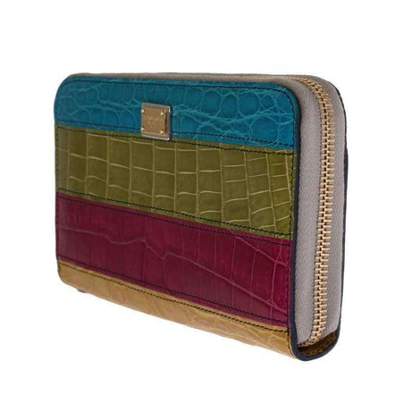 Dolce & Gabbana Multicolor Alligator Caiman Leather Continental Wallet