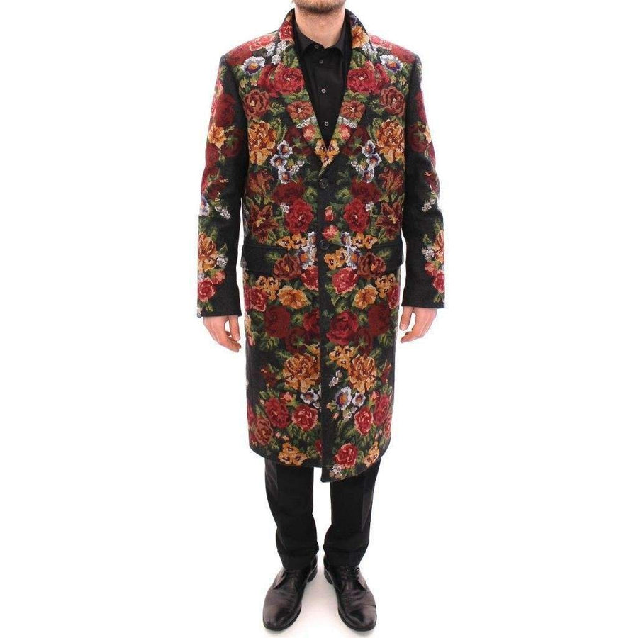 Dolce & Gabbana Multicolor Baroque Brocade Floral Coat Jacket - Men - Apparel - Outerwear - Jackets - Dolce & Gabbana | Gethuda Fashion