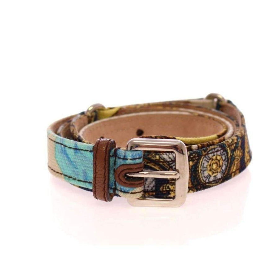 Dolce & Gabbana Multicolor Leather Printed Belt - Women - Accessories - Belts - Dolce & Gabbana | Gethuda Fashion